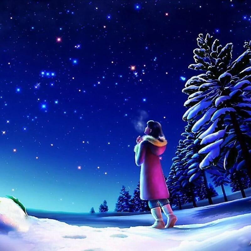 Картина Kagaya к стихотворению Звезда Зари