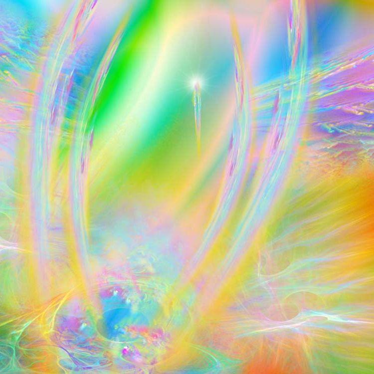 Фрагмент картины Е.Саппа - Тонкий мир - полет души