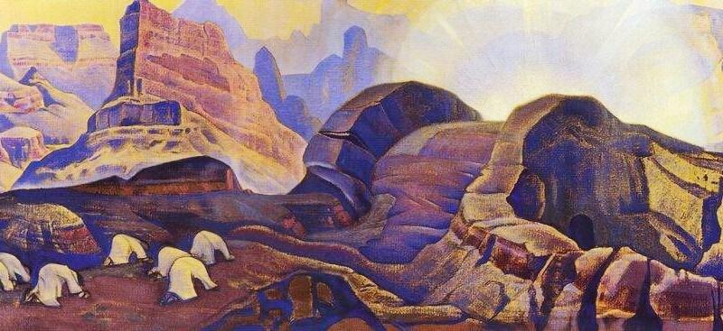 Учителя.Фрагмент картины Н.Рериха Чудо. Явление Мессии